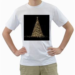 Christmas Tree Sparkle Jpg White Mens  T-shirt