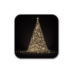 Christmas Tree Sparkle Jpg Rubber Drinks Coaster (Square)