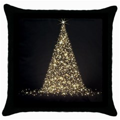 Christmas Tree Sparkle Jpg Black Throw Pillow Case