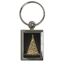 Christmas Tree Sparkle Jpg Key Chain (Rectangle)
