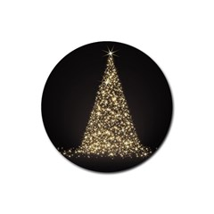 Christmas Tree Sparkle Jpg 4 Pack Rubber Drinks Coaster (Round)
