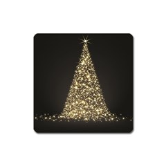 Christmas Tree Sparkle Jpg Large Sticker Magnet (Square)