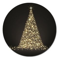 Christmas Tree Sparkle Jpg Extra Large Sticker Magnet (Round)