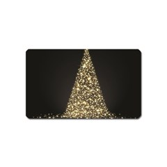 Christmas Tree Sparkle Jpg Name Card Sticker Magnet