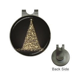 Christmas Tree Sparkle Jpg Hat Clip with Golf Ball Marker