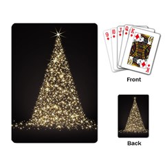 Christmas Tree Sparkle Jpg Standard Playing Cards