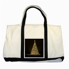 Christmas Tree Sparkle Jpg Two Toned Tote Bag