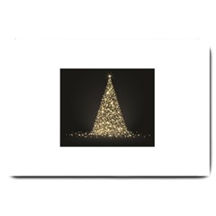Christmas Tree Sparkle Jpg Large Door Mat