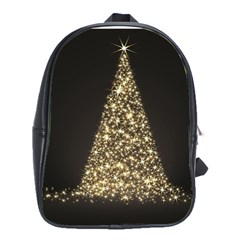 Christmas Tree Sparkle Jpg Large School Backpack