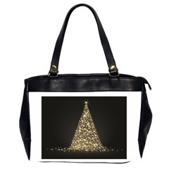 Christmas Tree Sparkle Jpg Twin Sided Oversized Handbag