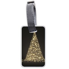 Christmas Tree Sparkle Jpg Single Sided Luggage Tag