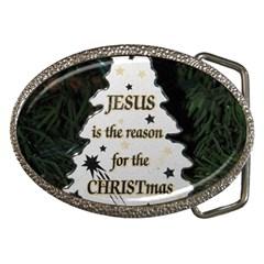 Jesus Is The Reason Belt Buckle (oval)
