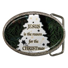 Jesus is the Reason Belt Buckle (Oval)