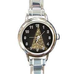 Christmas Tree Sparkle Jpg Classic Elegant Ladies Watch (round)