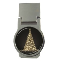 Christmas Tree Sparkle Jpg Money Clip (Round)
