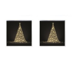 Christmas Tree Sparkle Jpg Square Cuff Links