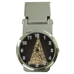 Christmas Tree Sparkle Jpg Chrome Money Clip With Watch