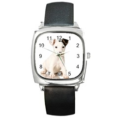 55190649 Black Leather Watch (Square)