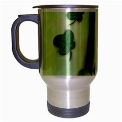 shamrock Brushed Chrome Travel Mug
