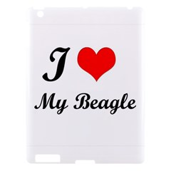 I Love My Beagle Apple iPad 3 Hardshell Case