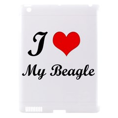 I Love My Beagle Apple Ipad 3 Hardshell Case (compatible With Smart Cover)