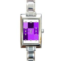 Purple Shades Classic Elegant Ladies Watch (Rectangle)