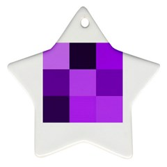 Purple Shades Ceramic Ornament (Star)