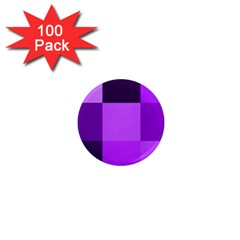 Purple Shades 100 Pack Mini Magnet (Round)