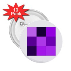 Purple Shades 10 Pack Regular Button (Round)