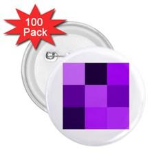 Purple Shades 100 Pack Regular Button (Round)