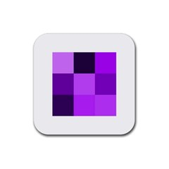 Purple Shades Rubber Drinks Coaster (Square)