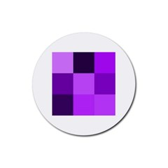 Purple Shades 4 Pack Rubber Drinks Coaster (Round)