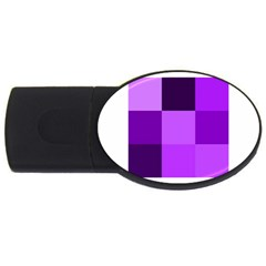 Purple Shades 2gb Usb Flash Drive (oval)