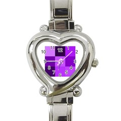 Purple Shades Classic Elegant Ladies Watch (Heart)