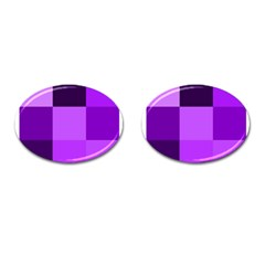 Purple Shades Oval Cuff Links