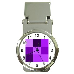 Purple Shades Chrome Money Clip with Watch