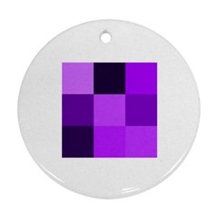 Purple Shades Twin-sided Ceramic Ornament (Round)
