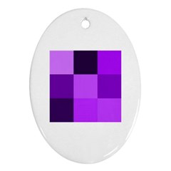 Purple Shades Oval Ornament (Two Sides)