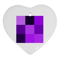 Purple Shades Heart Ornament (two Sides)