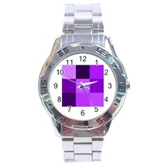 Purple Shades Stainless Steel Analogue Watch (Round)