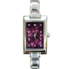 Purple Bokeh Classic Elegant Ladies Watch (Rectangle)