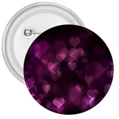 Purple Bokeh Large Button (round)
