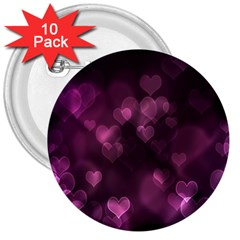 Purple Bokeh 10 Pack Large Button (Round)