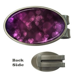Purple Bokeh Money Clip (Oval)