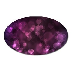 Purple Bokeh Large Sticker Magnet (Oval)