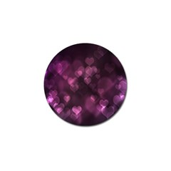 Purple Bokeh Golf Ball Marker
