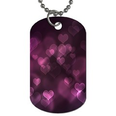 Purple Bokeh Twin-sided Dog Tag