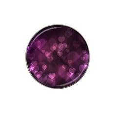 Purple Bokeh 10 Pack Golf Ball Marker (for Hat Clip)