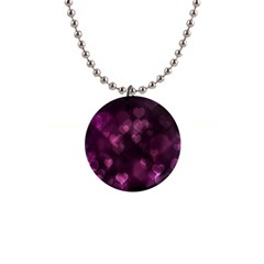 Purple Bokeh Mini Button Necklace