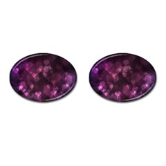 Purple Bokeh Oval Cuff Links
